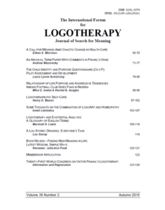 International Forum for Logotherapy 2016 Autumn